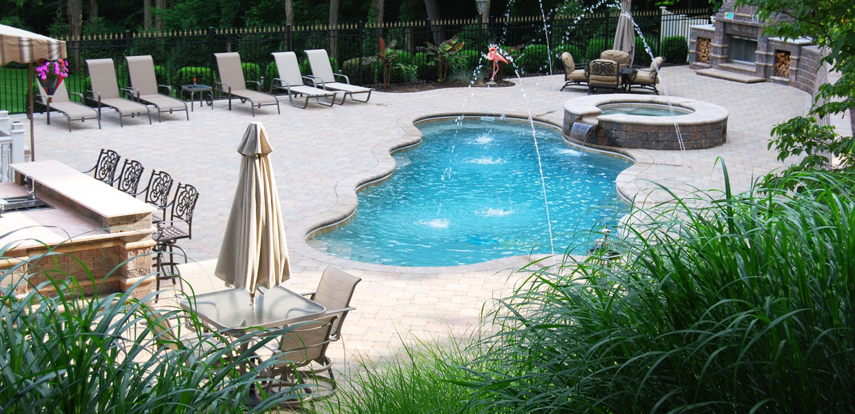 In ground above ground fiberglass swimming pools spas for Fiberglass pools above ground